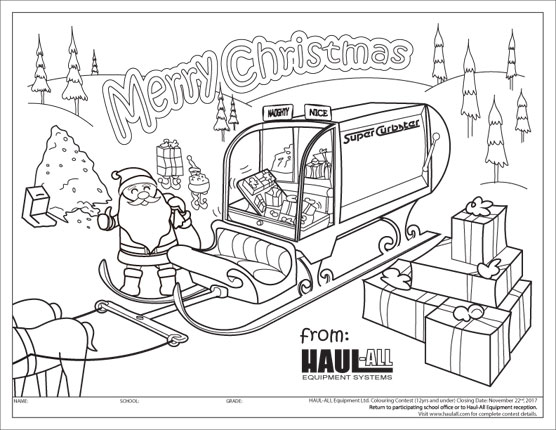 2017 Haul-All Winter Holiday Colouring Contest