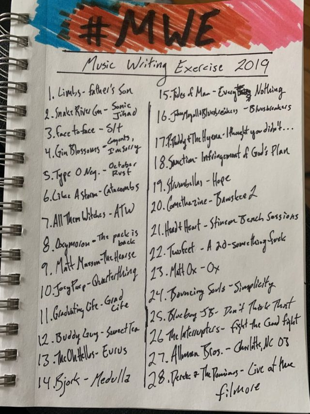 Music Writing Exercise, MWE, MWE 2019