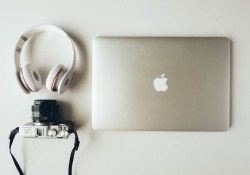 Music Blogging, Music Criticism, Music Writing, Writing about Music, Laptop with Headphones,
