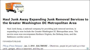Junk Removal Press Release