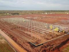 Pure Flavor Georgia Greenhouse Construction Project is Coming to Life