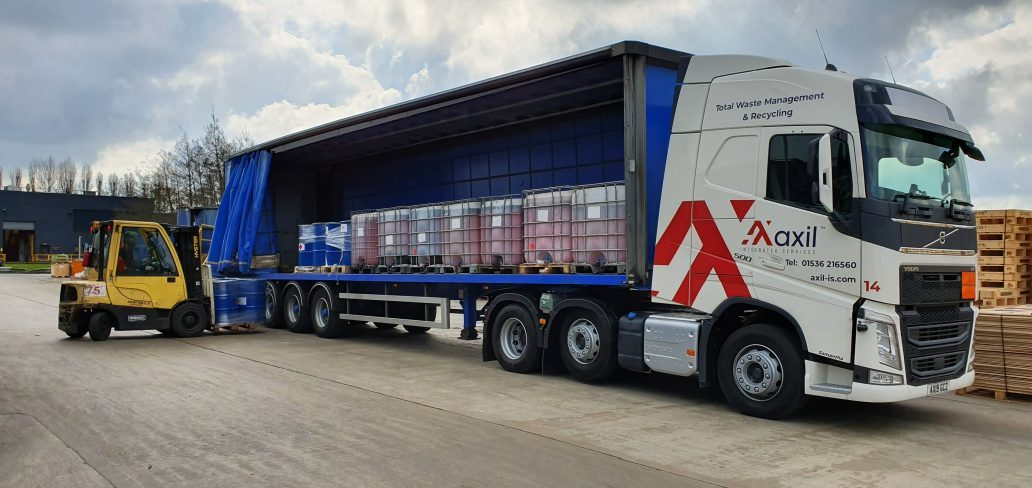 Axil Integrated Services Vehicle loaded with liquid waste ready to be transported