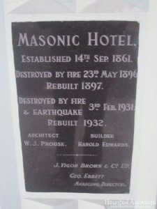 The Masonic Hotel cornerstone