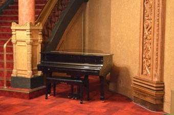 A piano, Wintergarden, Auckland Civic Theatre