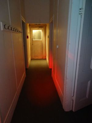 Hallway with cloakhooks - School investigation