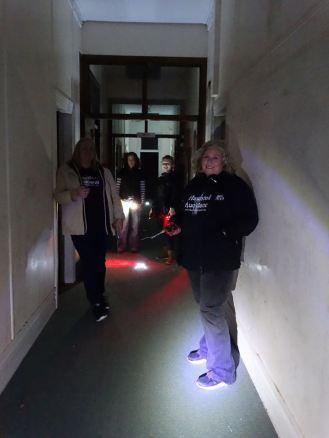 Team photo in the hallway - School investigation