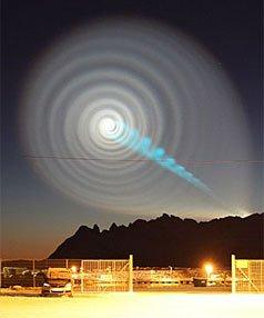 NZ sightings of spiral 'UFO'? [stuff.co.nz]