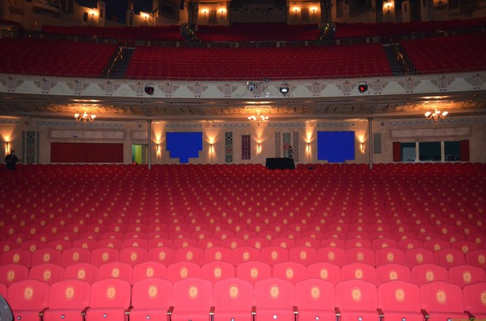View from the stage, Main Auditorium, Auckland Civic Theatre