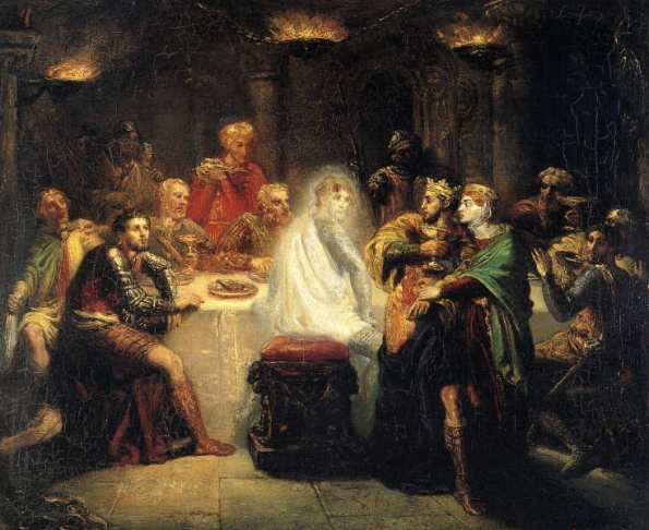 Macbeth seeing the ghost of Banquo - by Théodore Chassériau