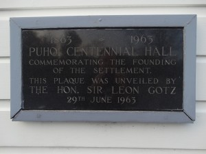 Plaque unveiled during the Centennial celebrations in 1963.