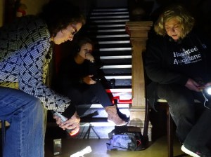 The ladies conduct an EVP session - School Investigation