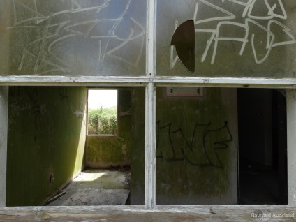 Kingseat Hospital Morgue - Broken Window