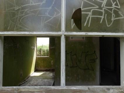 Kingseat Hospital Morgue - Broken Window