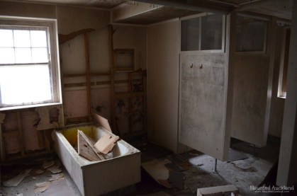 Dismantled bathroom, upstairs in Admin Building