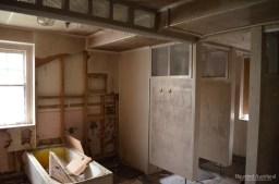 Dismantled bathroom, upstairs in Admin Building