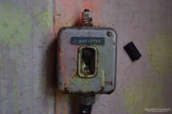 Maximum Security interior, dishwasher switch