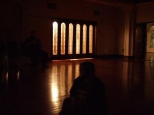 Kel and Matthew in the ballroom