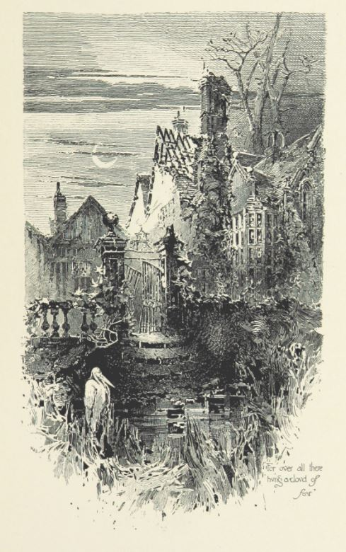 Unlucky Houses, An unlucky-looking haunted house. The Haunted House, H. Railton, 1896, British Library