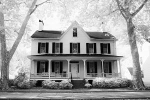 Haunted and Historic House Cambridge Maryland Infrared Photography