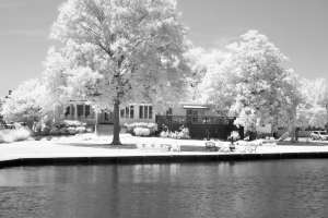 Haunted Shannahan House St Michaels Maryland Infrared Photography