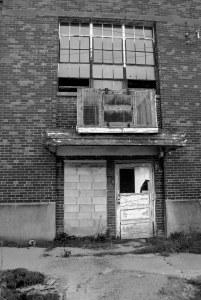 Trans-Allegheny Lunatic Asylum Broken Door Haunted Photography