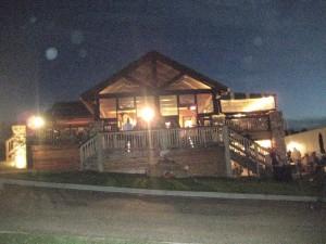 night shot tasting room Arrington Vineyards