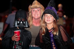 Party goers at Poplar Grove Halloween