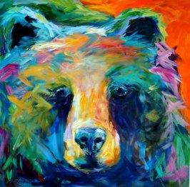 Linda Israel bear totem painting