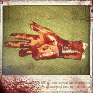 Win a Bloody hand from Stabbing House