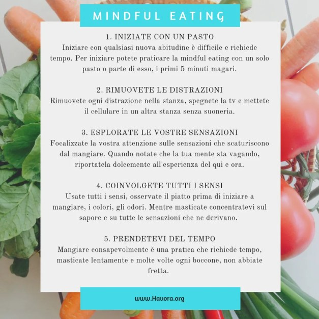 Mindfull Eating per perdere peso