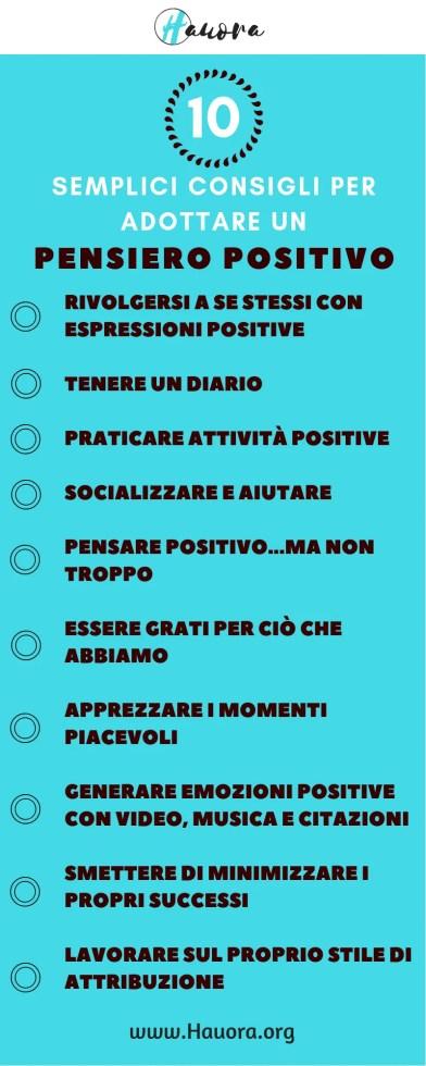 10 consigli per il pensiero positivo