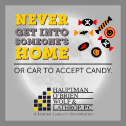 halloween safety tips never get into a strangers car or home