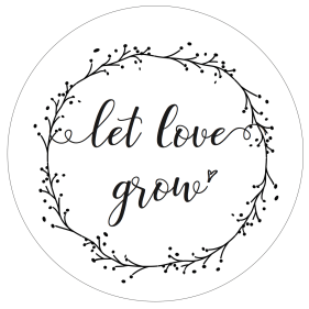 Stempel Let Love Grow