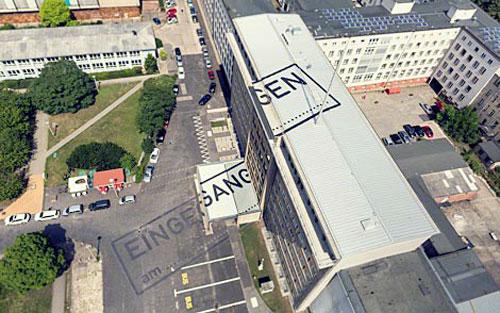 Luftbild der StaSi Zentrale Berlin