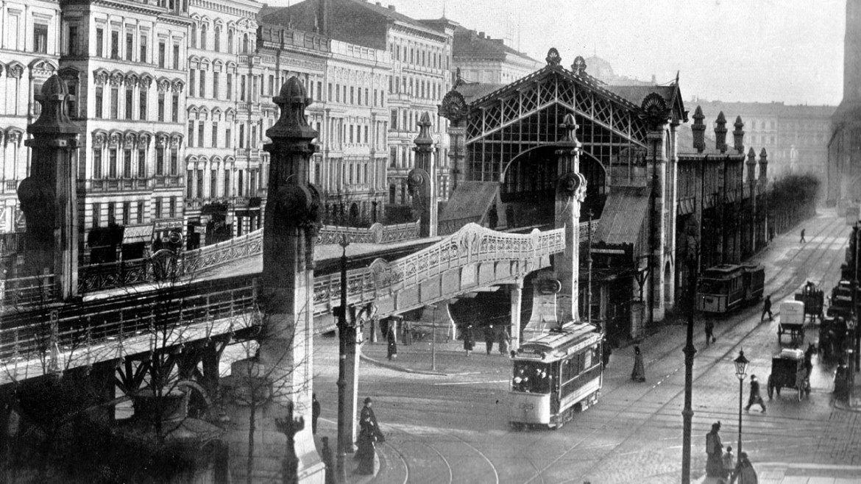 Hochbahn an der Bülowstrasse im Jahre 1903
