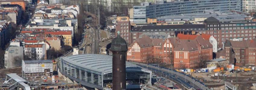 Berlin Ostkreuz - Blick von oben