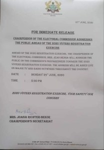 Ec Addresses The Public Ahead Of The 2020 Voters Registration 1