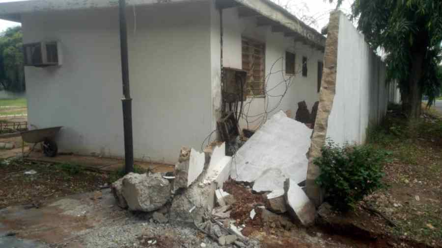 The demolished site of the Nigerian mission's staff quarters in Accra Ghana 1