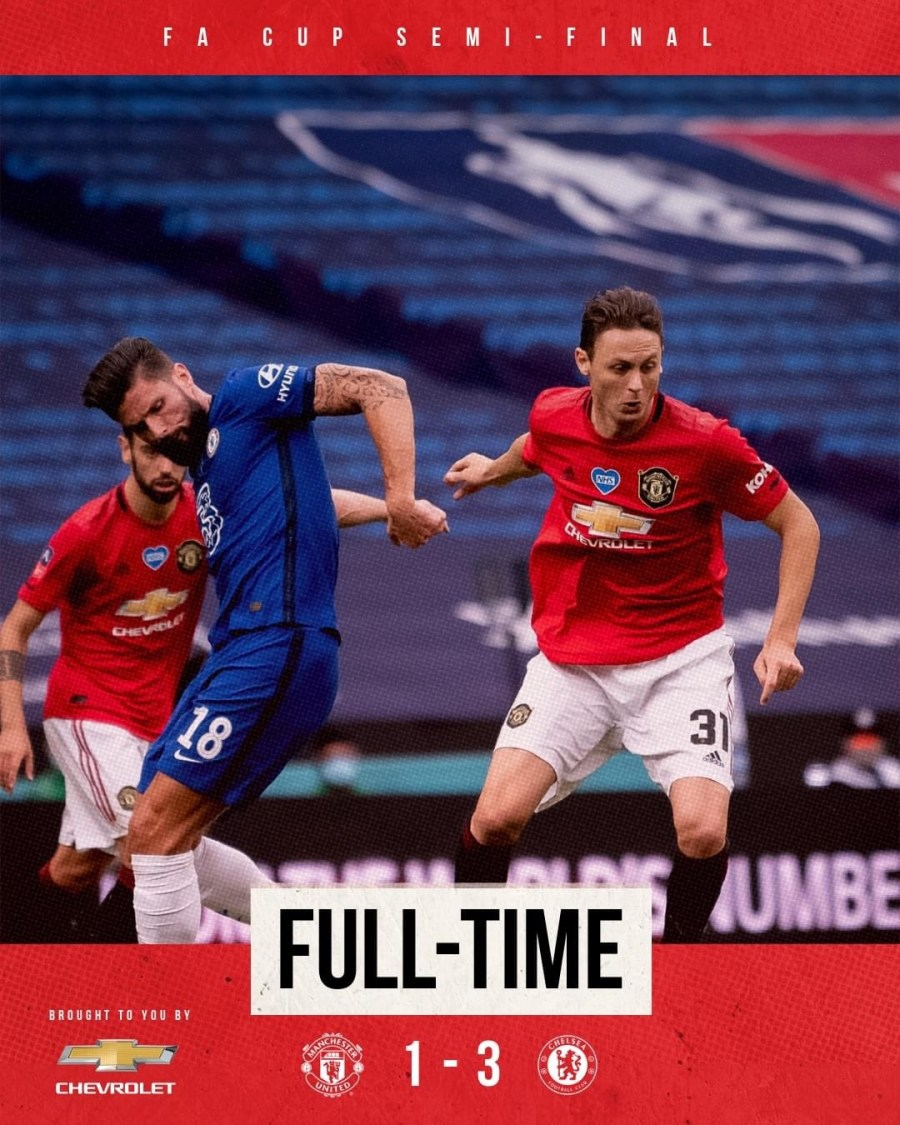 Our FA Cup journey ends at Wembley- Man United 1