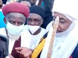 Chief Imam and his entourage at Madina Baye 2