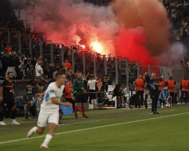 Europa League fixtures are once again hampered by crowd disturbance1