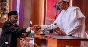 Buhari, ya rantsar da Tanko Muhammad a matsayin sabon Shugaban alkalan Nijeriya.