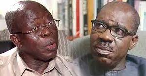 Kyautar Kirsimeti: Oshiomhole Ya Watsa Wa Gwamna Obaseki Kasa A Ido