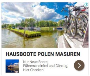 Hausbootferien in Polen in Masuren