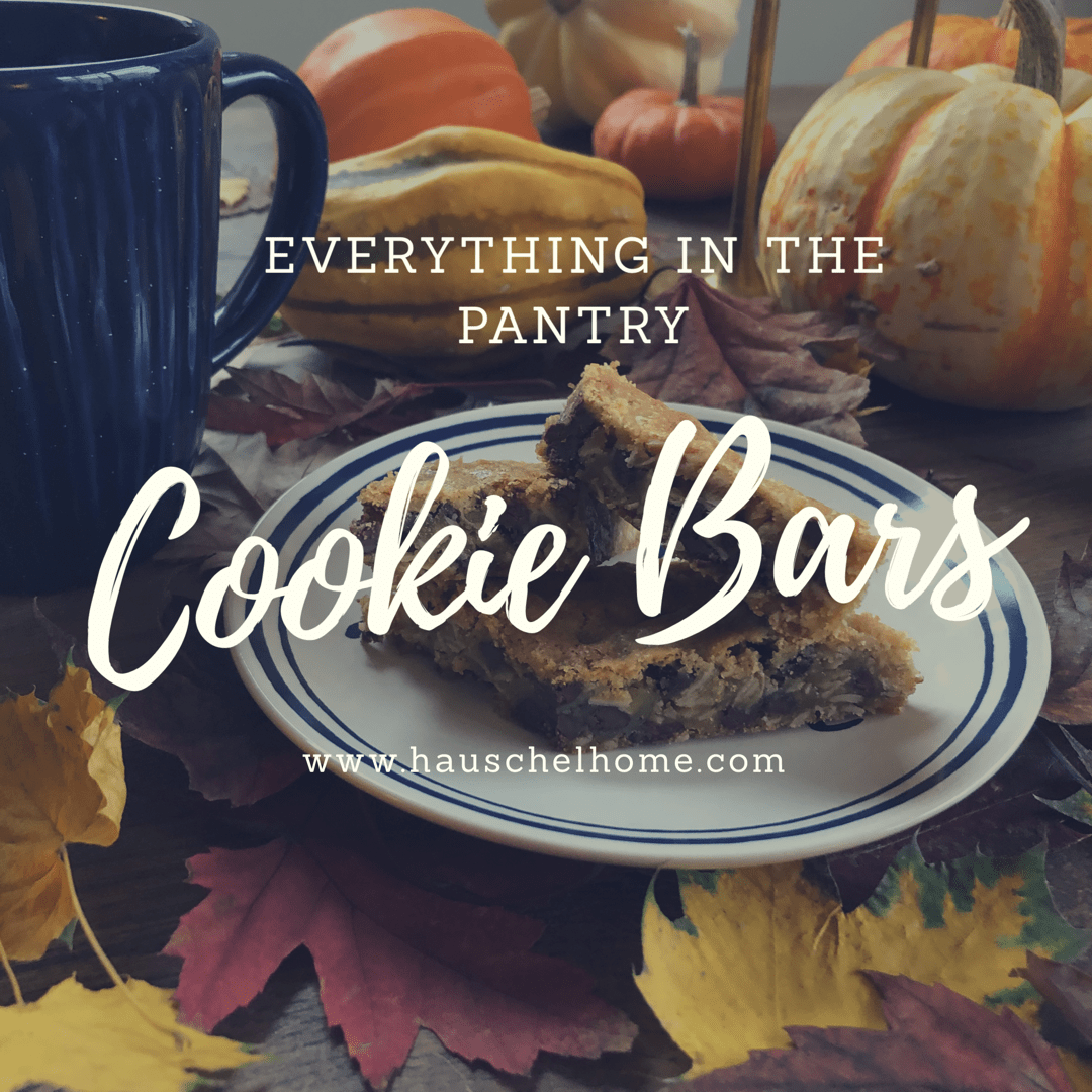 everything in the pantry cookie bar