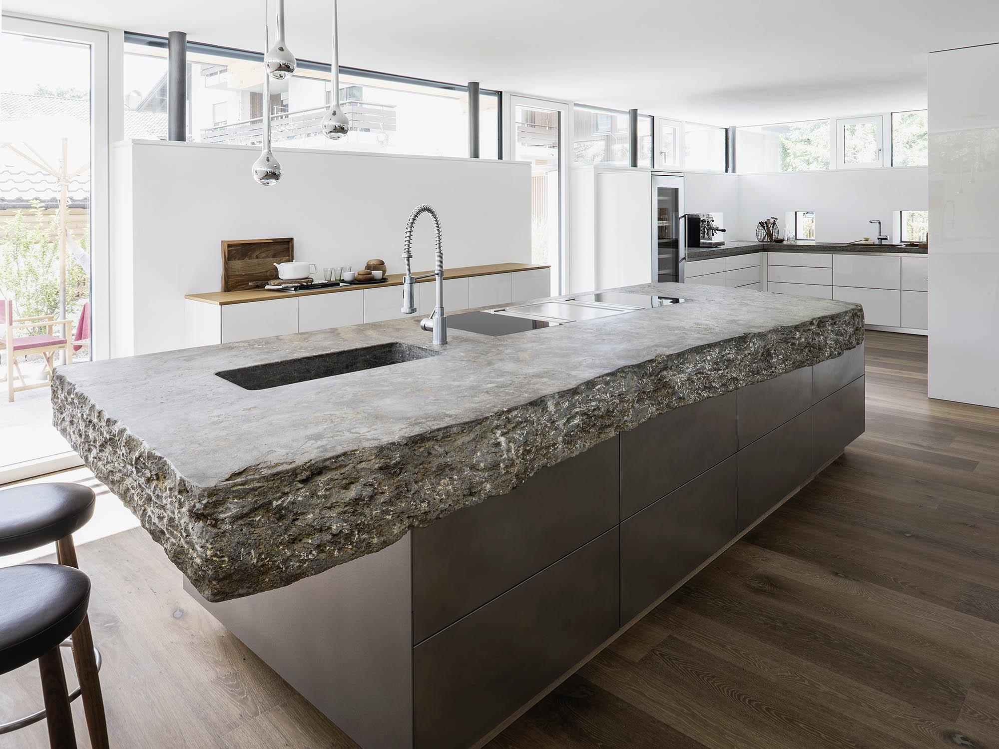 Naturstein Arbeitsplatte Kuche Reinigen Granit Arbeitsplatten Nach