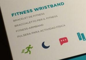 Foto der Verpackung des Fitnessarmbands