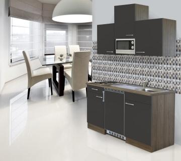 Respekta Singleküche mit Kühlschrank und Ceranfeld
