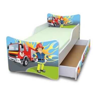 Best For Kids Feuerwehrbett 70x140 cm Liegefläche