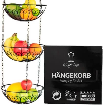 Chefarone Obstkorb zum Aufhängen